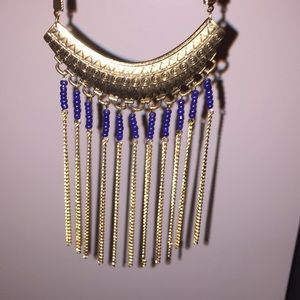 Beautiful Greek-style Gold Studded Necklace (NWT)